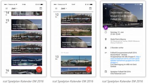 ical-kalender zur Fußball EM 2016